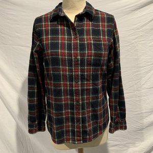 L.L. BEAN Scotch Plaid Flannel Shirt Relaxed